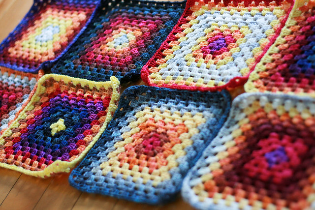 Maybe these will become a baby blanket some day...