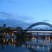 The Tyne at night