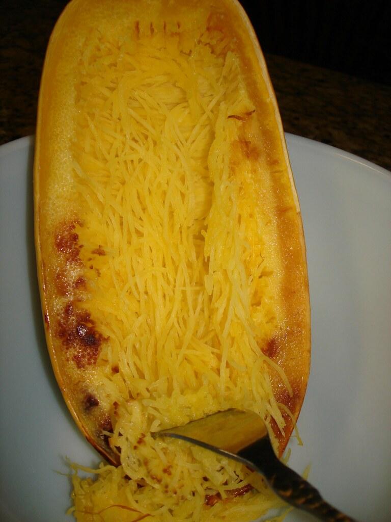 Spaghetti Squash - Being Shredded