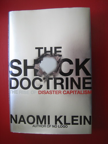 """The Shock Doctrine"" Naomi Klein; photo by Earthworm on flickr"