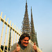Tim gives Watts Tower 2 thumbs up