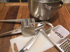 Potential Spätzle-making implements