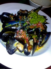 Mussells marinere from Imagination Restaurant, Wiseman Park Wollongong City Bowls Club