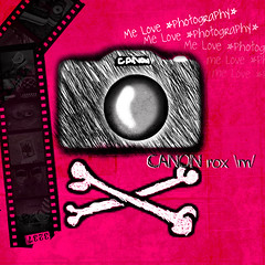 *photography* (S) Tags: camera black photoshop photography cam drawings adobe bones crossed hotpink filmrole