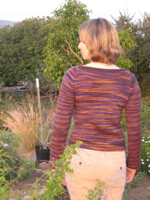 Hourglass sweater - back