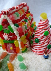 graham cracker gingerbread house! (saramarie) Tags: christmas house gnome holidays candy coconut gingerbread sweets gingerbreadhouse peppermint gumdrops grahamcracker themeholiday