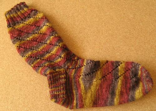 Spiral Eyelet Socks