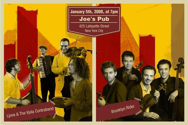 Ljova amp Vjola Contraband  The Brooklyn Rider at Joes Pub on January 5th by innabar