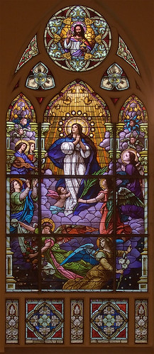 Saint Augustine Roman Catholic Church, in Saint Louis, Missouri, USA - stained glass window
