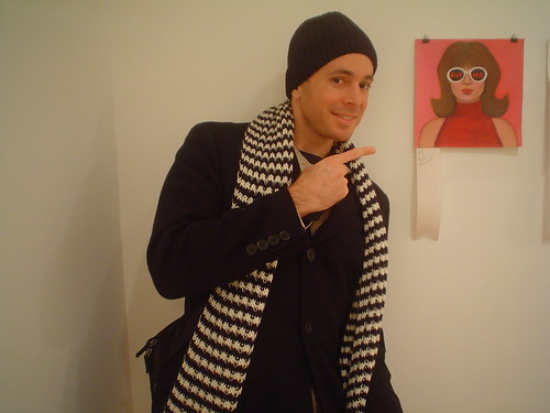 Me in the gallery where I bought this, my frst piece of art!