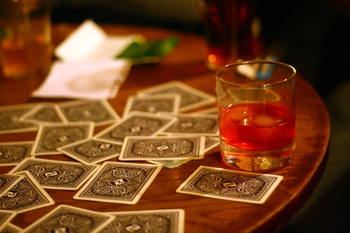Cards and a drink of pure evil