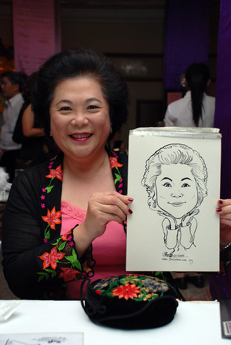 Caricature Singapore Swimming Club NYE 3