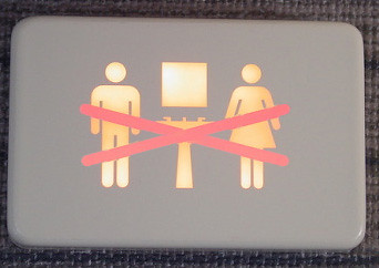 Intriguing airplane signage.