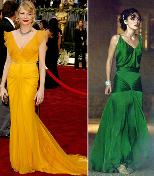 Was Jacqueline Durran's green dress for Kira Knightly in Atonement inspired