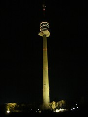 Danube Tower at night