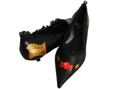 Charlie and Chocolate Factory Shoes 2 (Hippy of Doom) Tags: shoes pointy chocolate willywonka charlieandthechocolatefactory sweets timburton goldenticket roalddahl kittenheels