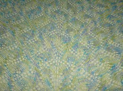 Luna Moth Shawl - close up
