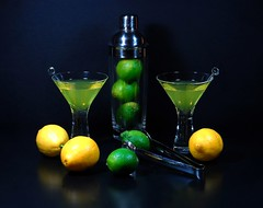 Lemon or Lime? (floralgal) Tags: stilllife green yellow fruit lemon crystal martini liquor drinks alcohol vodka brightcolors martiniglass cocktails limes happyhour neoncolors fpc blueribbonwinner bardrinks mywinners mywinner abigfave lemonsandlimes tabletopstilllife impressedbeauty infinestyle diamondclassphotographer flickrdiamond betterthangood theperfectphotographer coloreddrinks artisticcocktailphoto creativemartiniphoto creativelemonandlimes