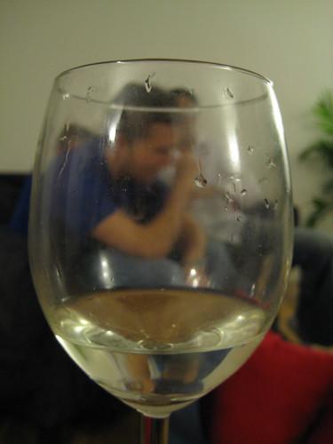 Alex through the wine glass