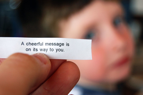 Cheerful message