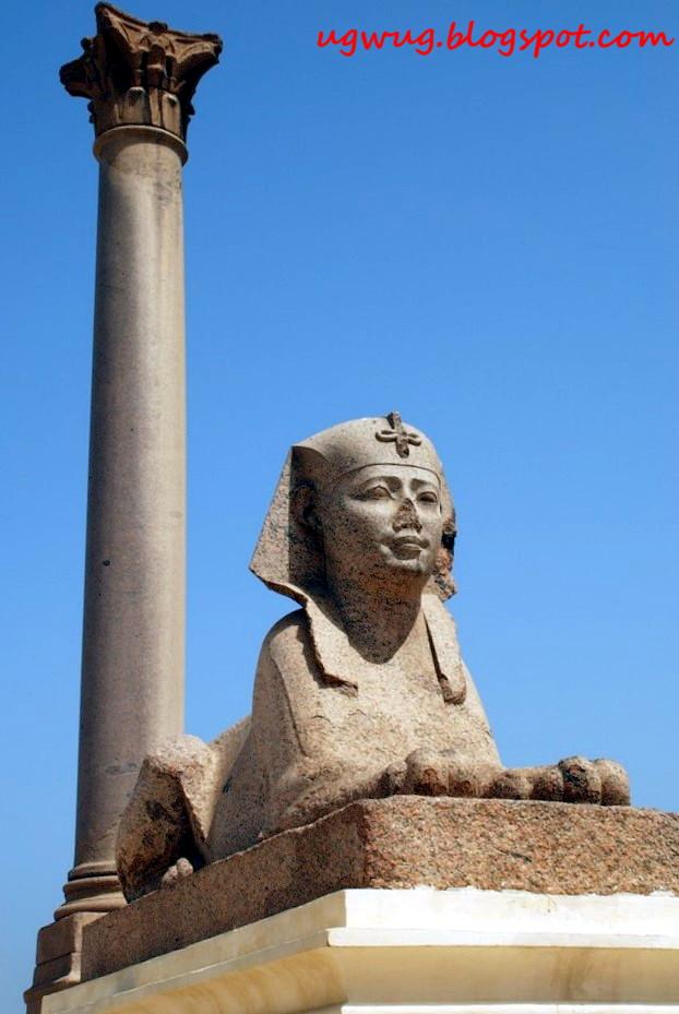 Pompey's Pillar, Amud El-Sawari in Alexandria