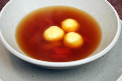 semolina dumpling soup