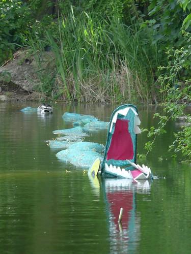 Crocodile in Globe Pond