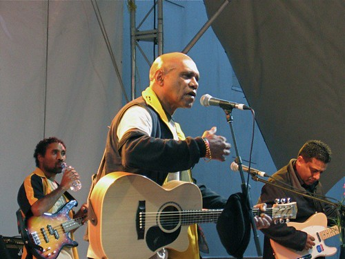 Archie Roach and band