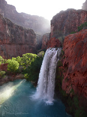 morning at Havasu Falls (alvin pastrana) Tags: arizona indian grandcanyon canyon hike waterfalls backpack havasu 2008 reservation supai exposureeffects frhwofavs natureoutpost alvinpastrana