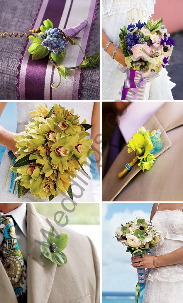 iLoveThese matching bouquet and boutonniere