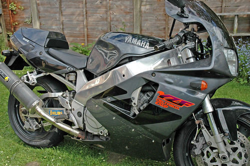 YZF750R RH side,motorcycle, sport motorcycle, classic motorcycle, motorcycle accesorys