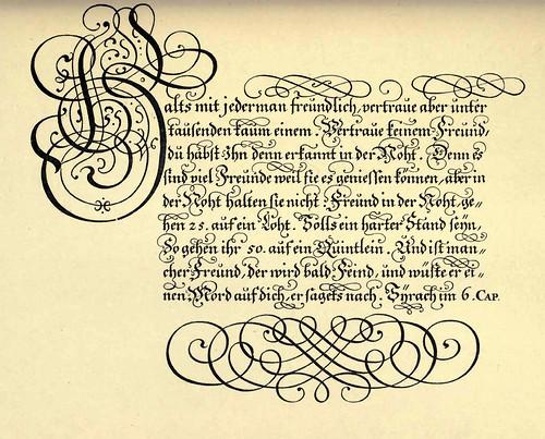 39- Escritura gotica germanica de Anweissung zur zierlichen Schrebkunst por B.U. Hoffman 1694