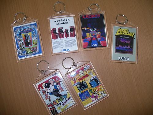 Arcade flyer keychains