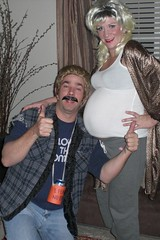 Halloween 2008 (McClaran) Tags: white halloween trash costume pregnant belly redneck 2008