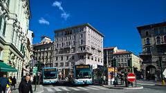 Trieste Trasporti 1322 e 1843, Piazza Goldoni - Trieste (ITALY) (Mauro Zoch) Tags: trieste friuliveneziagiulia italia