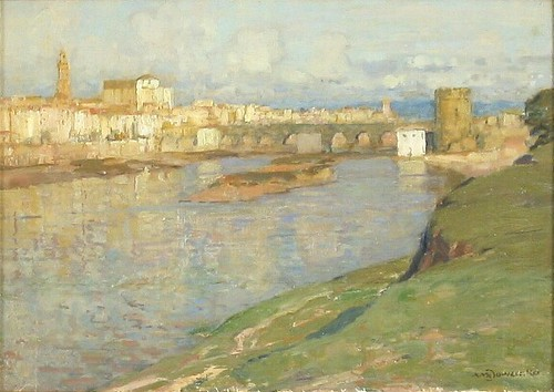 Albert Foweraker, Roman Bridge over the Guadal Quivir in Cordoba.