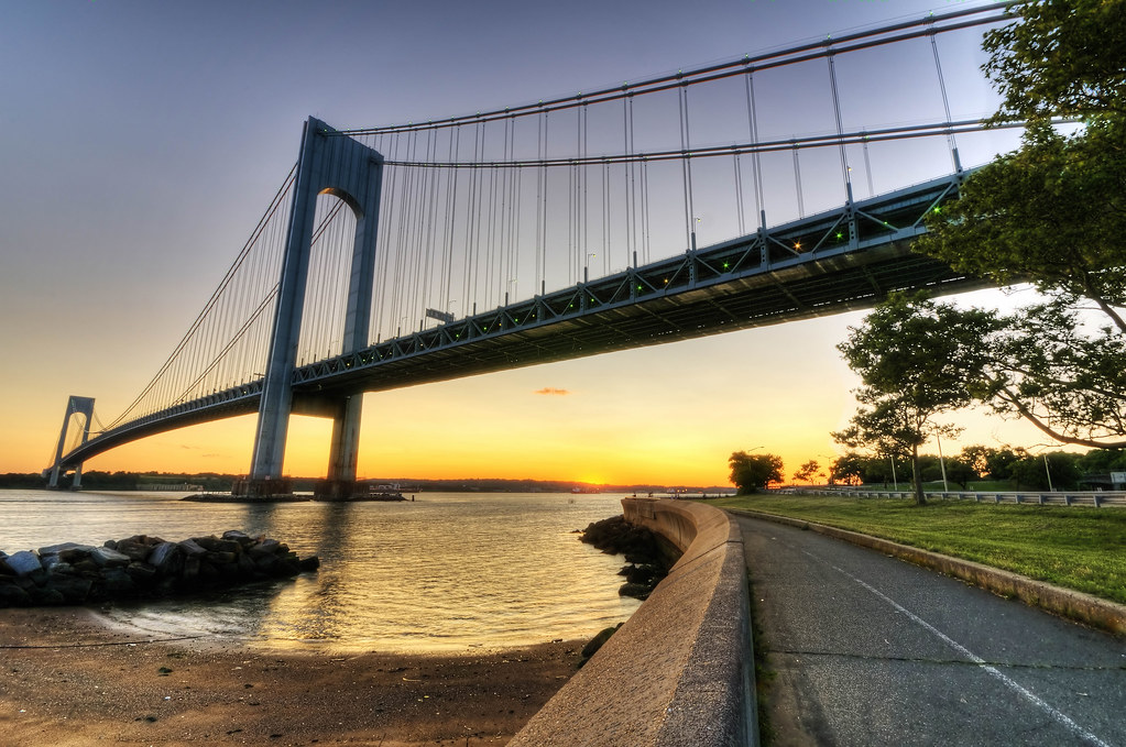 Sunset under the Verrazano by Nimo Photography