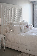 "4093 WHITE VELVET TUFTED BED WITH CRYSTALS • <a style=""font-size:0.8em;"" href=""http://www.flickr.com/photos/43749930@N04/5805709594/"" target=""_blank"">View on Flickr</a>"