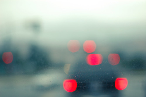 The morning commute in bokeh