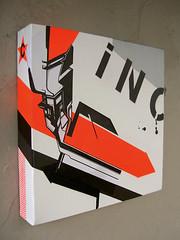 . (.parsprototo*) Tags: collage logo graffiti 3d stencil neon graphic drawing mixedmedia canvas spraypaint typo bielefeld inck