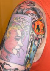 10/06/2007: Merv Pumpkinhead (armchairdj) Tags: tattoo comix delirium neilgaiman theendless merv thesandman mervpumpkinhead rightarmpart6