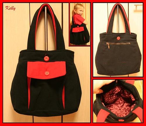 Must-punane kott