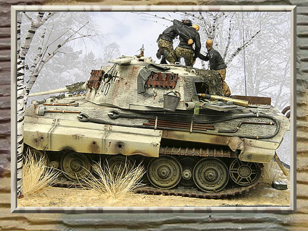 Any Pictures Of The King Tiger In Winter Camouflage
