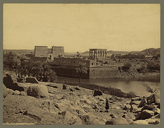 Philas - Great River Wall (HCLM) Tags: old vintage temple frith egyptian xix egypte 1860 philas