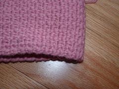 scarf in granite stitch detail