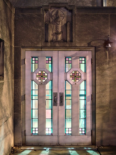 Saint Mary Magdalen Roman Catholic Church, in Saint Louis, Missouri, USA  - door.jpg
