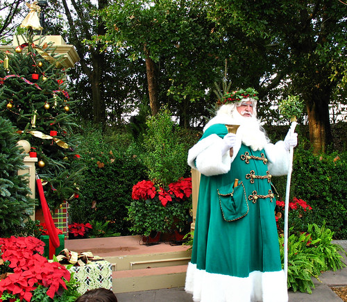 Father Christmas at the United Kingdom Pavillion in Epcot