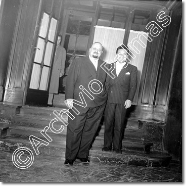 King Farouk ,Claudio Villa 1954 hotel Ambasciatori