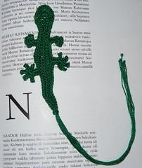 Kirjanmerkkilisko / gecko bookmark