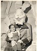 scary easter bunny (sparkleneely) Tags: bunny vintage easter found weird photo retro foundphoto easterbunny
